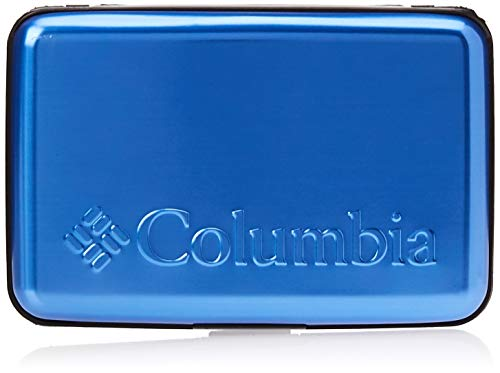 Columbia Men's RFID Blocking Hardcase Security Wallet, Blue, One Size