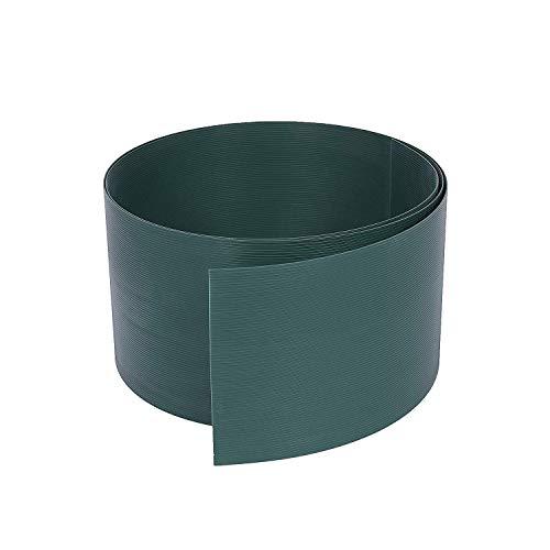 Rapid Teck® 10x Premium Hart-PVC Sichtschutzstreifen Grün RAL 6005 Zaun Sichtschutz für Doppelstabmattenzaun Zaunblende - sehr stabil - Keine Folie - 19cm Höhe x 2,525m Länge