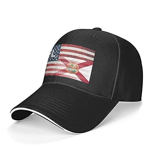 Florida Unisex Classic Baseball Cap,Leisure All-Match Sun Caps Trucker Dad Hat Black