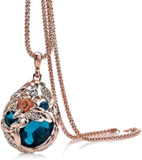 Women Ladylike Sweater Chain Waterdrop Long Necklace