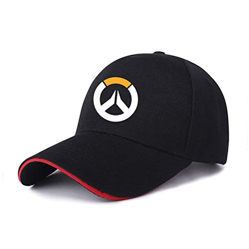 sdssup Visor Gorra de Estudiante Masculino 1 Color de Sombrero en Negro Rojo 12 Ajustable