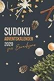 Sudoku Adventskalender für Erwachsene 2020: Riesiger Sudoku Rätselspaß auf über 100 Seiten - Jeden Tag neue Rätsel