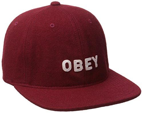 Obey Herren Baseball Cap Gr. Einheitsgröße, burgunderfarben