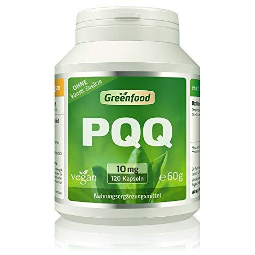 PQQ, 10 mg, 120 Kapseln, hochdosiert, vegan – stärkt die Mitochondrien-Funktion und antioxidative Schutzsubstanz. OHNE künstliche Zusätze. Ohne Gentechnik. Vegi-Kapseln. Vegan.