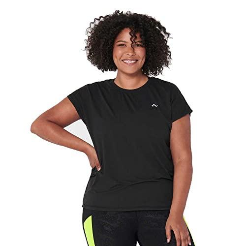 ONLY Damen Onpaubree Ss Loose Tr Tee Curvy-Opus Sporttop, Schwarz (Black Black), 52 (Herstellergröße: 52/54)