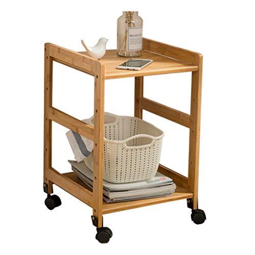YULAN Salon Petite Table Basse Table de Chevet Nordique Mini Table d'appoint Simple Moderne en Bambou (Size : 45X38X50cm)