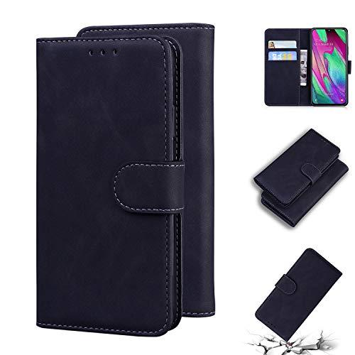 Snow Color Galaxy J4 2018 Hülle, Premium Leder Tasche Flip Wallet Case [Standfunktion] [Kartenfächern] PU-Leder Schutzhülle Brieftasche Handyhülle für Samsung Galaxy J4 - COHS010204 Braun