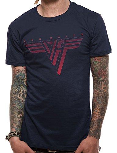 Van Halen Herren Van Halen–Classic Logo Short Sleeve T-Shirt Gr. Large, Blau