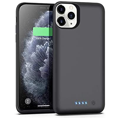 Battery Case for iPhone 11 Pro Max, 7800mAh Extended Portable Battery Pack Rechargeable Charging Case Smart Battery Case for iPhone 11 Pro Max External Battery Cover 6.5 inch Charging Case - Black