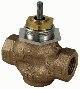 """Schneider Electric VB-7213-0-4-10 Series Vb-7000 Two-Way Globe Valve Body, Npt Threaded Straight Pipe End Connection, Stem Up Open, Brass Plug, 1-1/2"""" Port Size by Schneider Electric Buildings"""