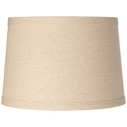 Burlap Drum Lamp Shade 14x16x11 (Spider) - Brentwood