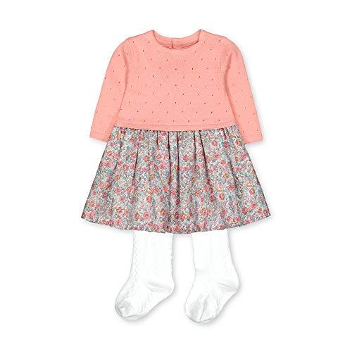 Mothercare NB PF Knit & Woven DRS W Tight Ensemble, Noir (Pink 130), Tiny Baby (Size:50) Mixte bébé
