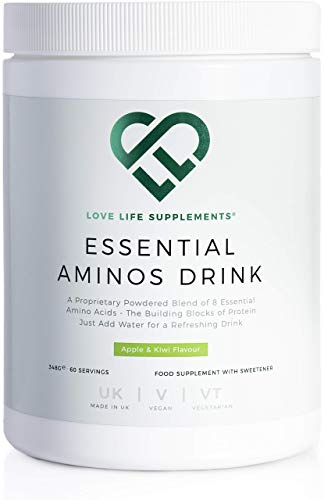 Essential Amino Acid (EAA) Drink by LLS | Apple & Kiwi Flavour | 348g - 60 Servings (5g of EAA's per Serving) | Love Life Supplements - 'Clean, Effective, High Quality'