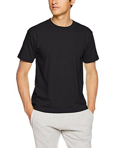 [ヘインズ] ビーフィー Tシャツ BEEFY-T 1枚組 綿100% 肉厚生地 ヘビーウェイトT H5180 メンズ ブラック XS