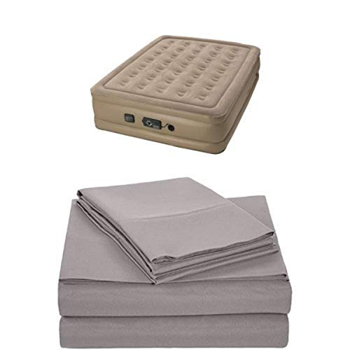 Review Of Insta-Bed Raised Air Mattress with Never Flat Pump - Queen and AmazonBasics Microfiber She...
