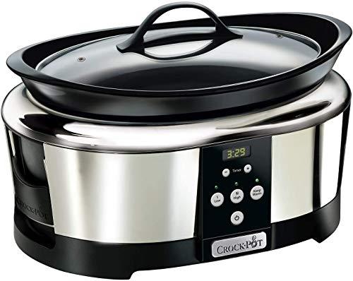 SIMMON SCCPBPP605-050 Olla de cocción Lenta Digital para Preparar Multitud de Recetas, 230 W, 5.7 litros, Acero Inoxidable