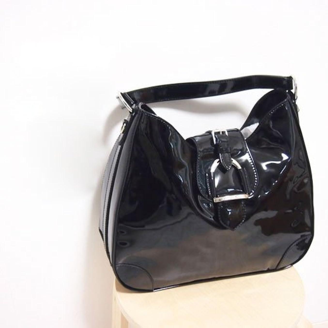 彫る不十分なうん(ラルフローレン) Ralph Lauren エナメル レザー ショルダー バッグ / BLACK ONESIZE [並行輸入品]