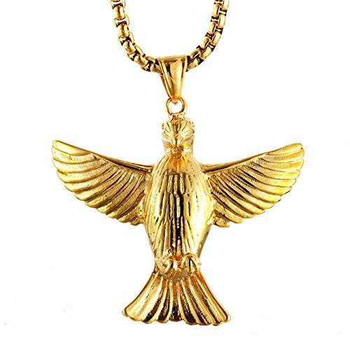 DOLOVE Edelstahl Halskette Herren Echt Gold Taube Anhänger Kette Edelstahl Freundschaftskette