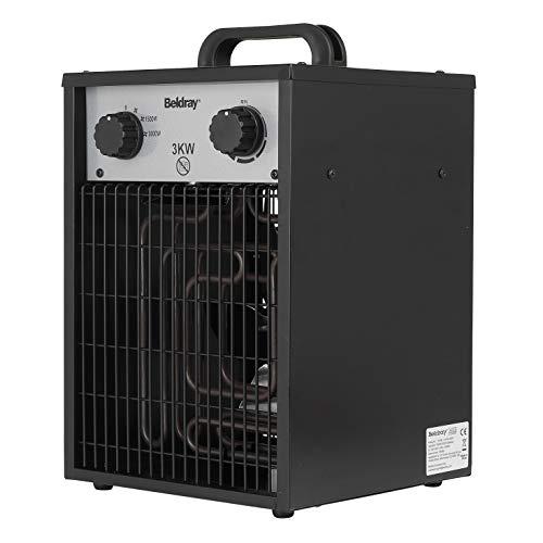 Beldray® EH1713JAWFOBEUVDE Calentador Industrial | 3KW | 2 configuraciones de Calor & Air Cool Feature | Control de termostato Ajustable | sobrecalentamiento Y Protección contra Salpicaduras