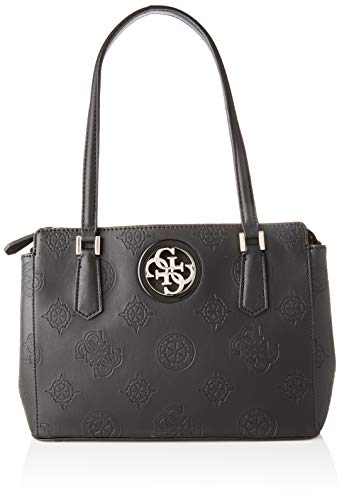 Guess Damen Open Road Luxury Satchel Klassisch, Nero, Taglia Unica