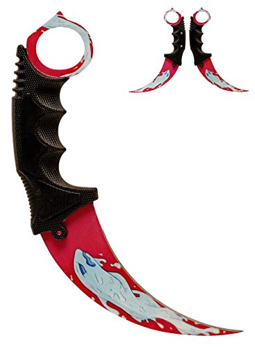 ARIKnives CS GO Karambit Elite - Water Elemental - CSGO Knife Skin Counter Strike Global Offensive Jagdmesser Survival