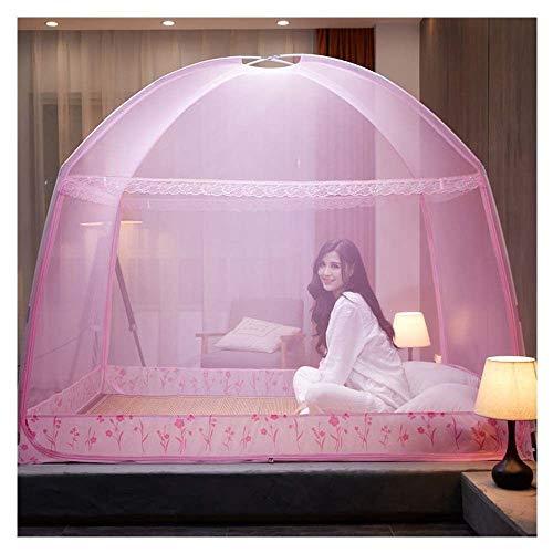 Meet World Pop Up Moskitonetz, tragbare Zelt Reise Doppeltür Reißverschluss Bett Netz, einfache Installation und feine Masche, perfekt für Schlafzimmer im Freien ,2,180*200cm