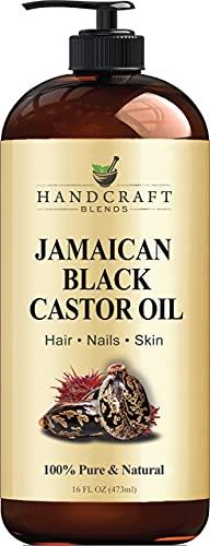 Handcraft Jamaican Black Castor Oil for Hair Growth, Eyelashes and...