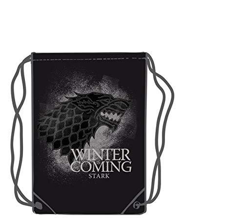 LAST LEVEL  Saco mochila bolsa Juego de Tronos Stark Adultos unisex  Multicolor  Medio