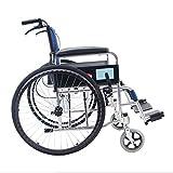 Nuokix Ligero Ligero Reforzada Manual de Silla de Ruedas Plegable Mayores lisiados de conducción Material Sanitario for sillas de Ruedas Apto para Personas Mayores/discapacitados
