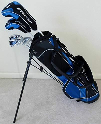 Jungen Golfschläger-Set für Rechtshänder, mit Standtasche, für Kinder im Alter von 8-12 Jahren, Blau
