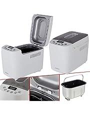 AREBOS Broodbakmachine | 1500 g | met 15 programma's | 2 kneedhaken | timer | lcd-display | 3 bruiningsgraden en broodmaten | 850 W