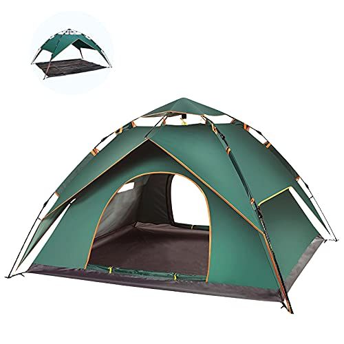 AGJIDSO 4 Person Pop Up Tent, Dual Use Family Camping Tent, Lightweight Portable Instant Tent, Waterproof Windproof Automatic Tent for Camping Hiking Mountaineering