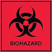 バイオハザードステッカーサイン(10パック)| ラボ、病院、産業用のデカール
