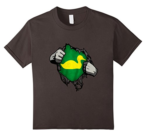 Kids Oregon T Shirt Adult Kids Sports Fan Football Gear Clothes 12 Asphalt