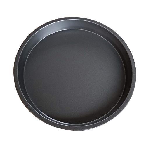 BESTOMZ 4 Stück Pizza-Pfanne Pizzablech rund 8 Zoll Pan Backblech