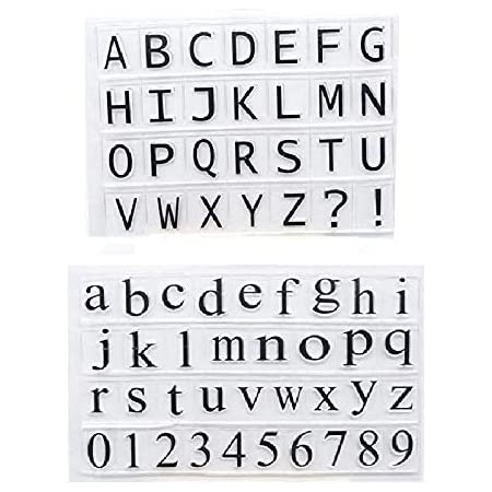 KWELLAM Letters English Alphabet Clear Stamps for Card Making Decoration and DIY Scrapbooking