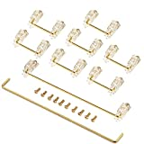 Keyboard Stabilizers Gold Plated PCB Screw-in Stabilizers 2u 6.25u 7u Mechanical Keyboard Stabilizers Mechanical Keyboard Accessories for 104/108 Keyboard –Transparent