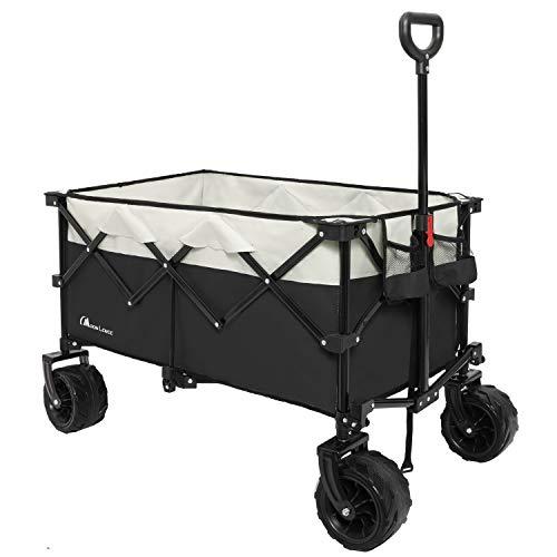 Moon Lence Collapsible Outdoor Utility Wagon Heavy Duty Folding Garden Portable...