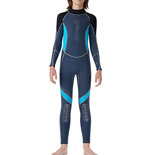 HJFGIRL Traje de Baño de 2.5 Mm para Niños y Niñas - Traje de Baño para Niños Traje de Buceo de Manga Larga Protección Solar UV 50+ Traje de Baño Traje de Baño para Niños Pequeños Playa,B-Medium