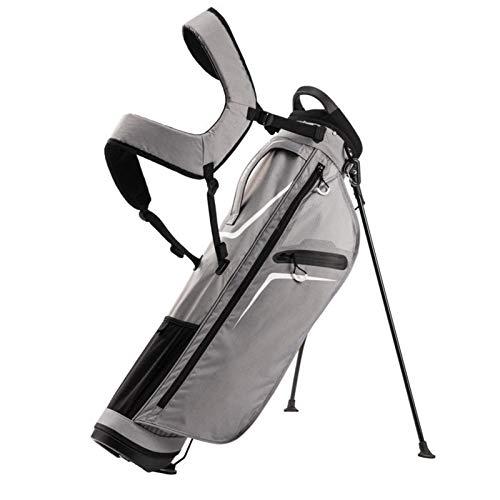 Bolsa de Golf, Poliéster Multifuncional Cómodo Ergonomía Caso de Golf Ajustable Durable Portátil Ligero Gran Capacidad Bolsa de Golf (Color : Gris)
