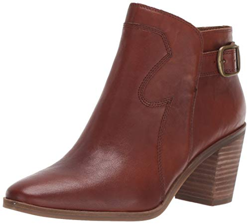 Lucky Brand Women's KAUTO Ankle Boot, Whiskey, 10 M US