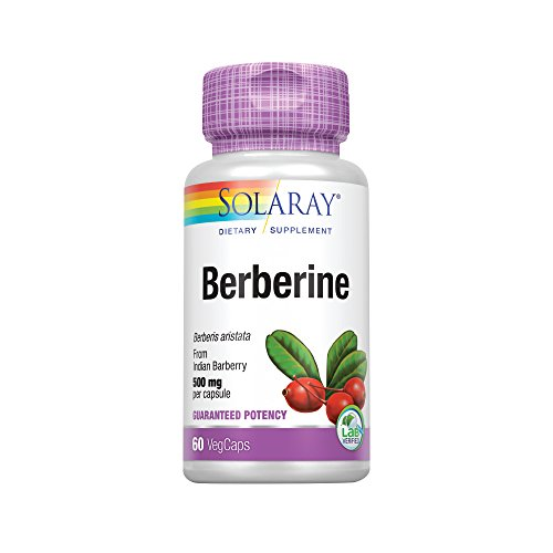 Solaray Berberine 500mg | from Indian Barberry Root Extract | Digestive & Immune Function Support | AMPK Metabolic Activator | Non-GMO | 60 Count