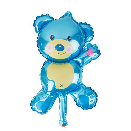 FLAMEER 10 Baby Foil Balloon Bouquet Baby Shower Baptême Décor d'anniversaire Cadeau Fournitures - Bleu, Our