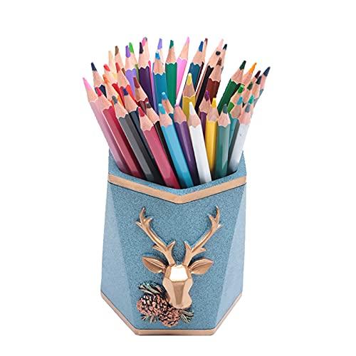Victory Portalápices ideal para guardar y organizar bolígrafos, pinceles, marcadores y accesorios. Perfecto para estudiantes, artistas y profesionales (98 x 98 x 115 mm, azul cielo).