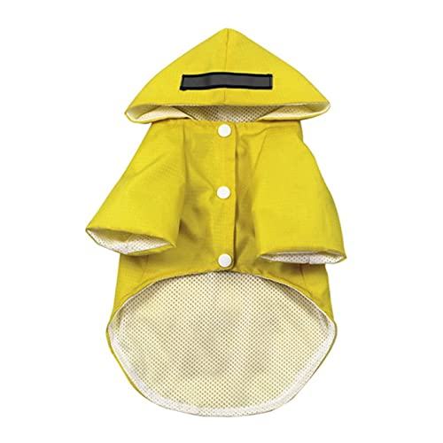 XXW Giacca da Pioggia con Cappuccio con Cappuccio per Cani per Animali Domestici con Tasche Strisce Riflettenti Poncho Regolabile Leggero...