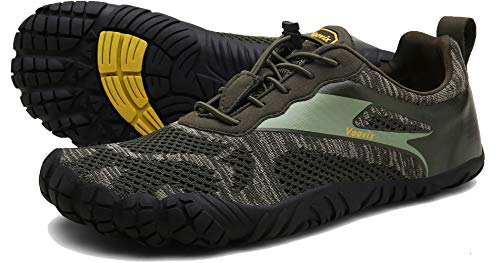 Voovix Herren Trail Running Barfußschuhe Minimalist Damen Cross-Trainer Schuh Wide Toes Box, Grn (grün), 36.5/37 EU