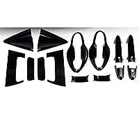 車のフロントリアドアハンドルフレームステッカー、ホンダHR-V HRV 2016 20172018カーカップボウルカバー成形装飾グロスブラック用