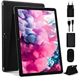 Tablet 10 Pollici Più Recente Android 10.0 Pie: Tablet PC MEBERRY Multi-Accessori con 4 GB di RAM + 64 GB di ROM con Processore Quad-Core- Dual SIM | 8000mAh | WIFI | GPS | Doppia Fotocamera, Nero