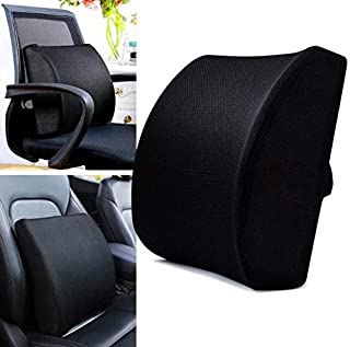 DREAM ART Memory Foam Lumbar Support Pillow/Back Cushion Orthopedic Backrest with Breathable 3D Mesh for Car Seat Office/C...