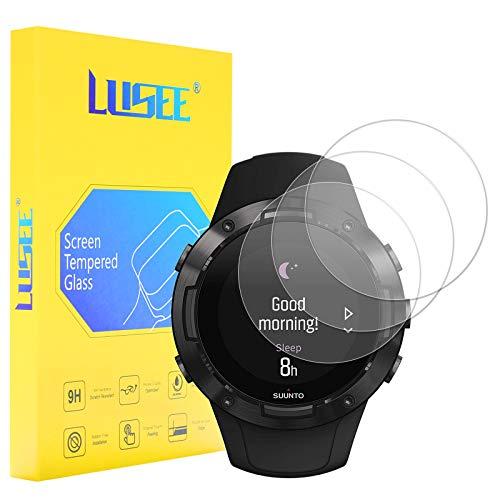 Lusee 3 Piezas Protector de Pantalla para Reloj Smartwatch (Circular, Diámetro: 35mm)...